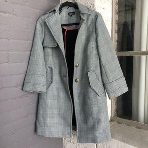 Grey Plaid Coat